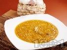 Рецепта Гъбена чорба с манатарки, картофи и топено сирене